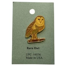 Barn Owl Bird American Pewter Works 1986 Lapel Pins