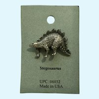 Stegosaurus Dinosaur American Pewter Works 1986 Lapel Pins