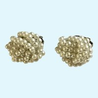 Small Faux White Pearl Lightweight Clip on Earrings