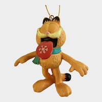 Garfield Catching Snowflakes with His Tongue Christmas Ornament