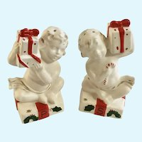 Mid-Century Napco Christmas Angel Salt and Pepper Shakers Rare X-5043