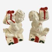 Mid-Century Napco Christmas Angel Salt and Pepper Shakers Rare X-5043