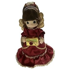 Rare Precious Moments Brunette Hair Christmas Tree Topper