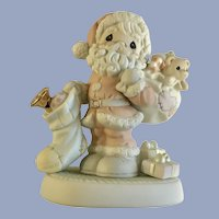 Precious Moments Christmas Santa Claus Porcelain Figurine