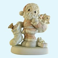Precious Moments Christmas Santa Claus Porcelain Figurine