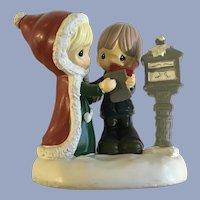 Precious Moments Christmas Mailing Letter to Santa Figurine