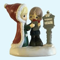 Precious Moments Christmas Mailing Letter to Santa Figurine