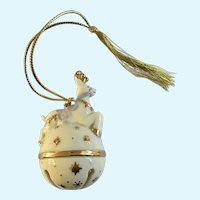 Lenox Reindeer Bell Christmas Tree Ornament Porcelain