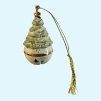 Lenox Bell Christmas Tree Ornament  Porcelain