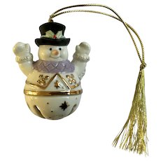 Lenox Frosty the Snowman Bell Christmas Tree Ornament
