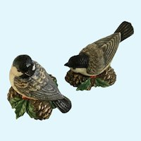 Lenox Christmas Birds and Pinecones Salt & Pepper Shakers Winter Greetings