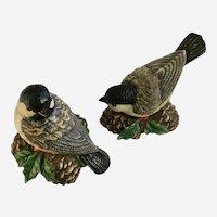 Lenox Christmas Birds and Pinecones Salt & Pepper Shakers Winter Greetings