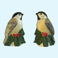 Lenox Christmas Small Birds and Pinecones Salt & Pepper Shakers Winter Greetings