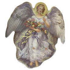 Bradford Exchange Season's of Joy Christmas Angel Plate Limited Edition