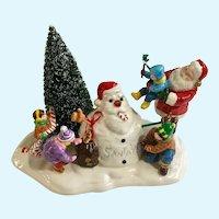 Vintage Snow Village Santa Comes to Town 1998 Department Dept 56 Figurine