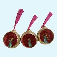 Vintage Angel Musicians Glitter Ball Diorama Ornament