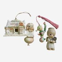 Vintage Precious Moments Christmas Decorations Figurines