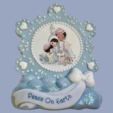 Precious Moments Jingle Bells Snowflake Musical Plaque