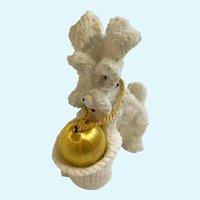 Vintage Puppy Dog Figurine Porcelain Resin Christmas Decoration