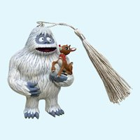 Hallmark Abominable Snowman and Rudolph the Reindeer Christmas Ornament