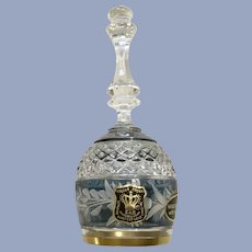 Ebeling & Reuss Marchioness Sapphire Colored Blue Bell Lead Crystal Glass
