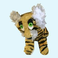 Mid-Century Jee Bee Creation Stuffed Tiger Plush Animal