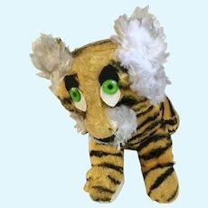 Mid-Century Jee Bee Creation Stuffed Tiger Plush Animal