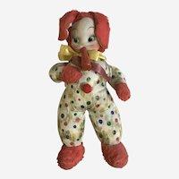 Bunny Rabbit Musical Stuffed Plush Animal 1940's Circa