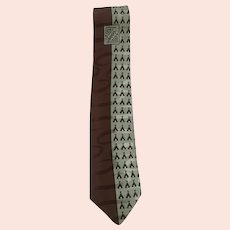 Vintage Regal TeePee Design Men's Silk Neck Tie