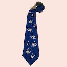 Vintage Towncraft Deluxe Original on the Wing Bird Men's Neck Tie