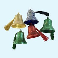Vintage Glitter Bell Christmas Ornaments
