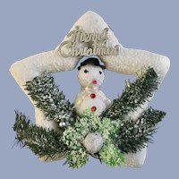 Vintage Snowman Star Christmas Tree Ornament