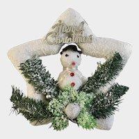 Vintage Snowman Star Christmas Tree Ornament