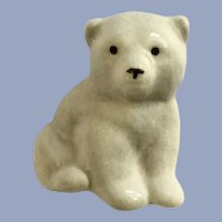 Vintage Ceramic Polar Bear Brooch Pin