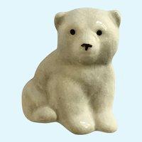 Vintage Ceramic Polar Bear Brooch Pin