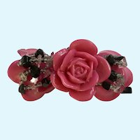 Vintage Pink Roses Beaded Bracelet