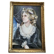 Joel Martone, Victorian Lady Portrait Mixed Media Oil Painting