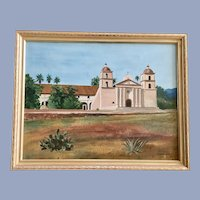 David Barton Johnson, Santa Barbara Mission Oil Painting