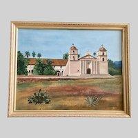 David Barton Johnson, Santa Barbara Mission Oil Painting