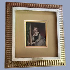 H LaCroix, Young Lady Listening At Door Oil Painting Signed Listed Artist