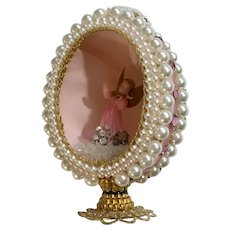 Vintage Christmas Angel Diorama 3D Egg Decoration