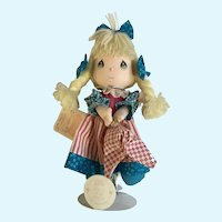 Applause Precious Moments Cloth Dolls of the Month July