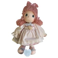 Applause Precious Moments Last Forever Pink Hair Doll 1985