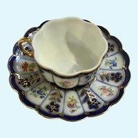 Beautiful Demitasse Floral Cup & Saucer Set