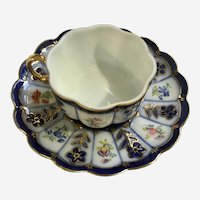 Beautiful Demitasse Floral Cup & Saucer Set