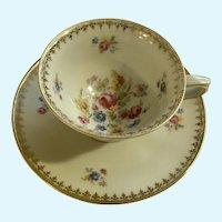 Demitasse Floral Cup and Saucer Wunsiedel Bavaria Porcelain