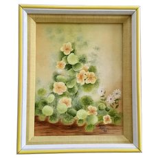 Melody Maekawa, Yellow and White Flowers Oil Painting