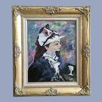Joel Martone, Victorian Lady Portrait Mixed Media Oil Painting
