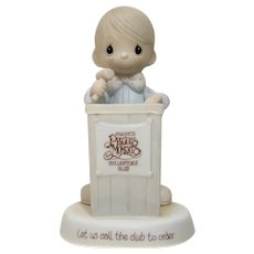 Precious Moments Figurine Let Us Call The Club To Order Enesco