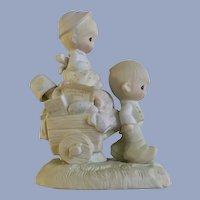 Precious Moments Figurine Walking by Faith Enesco